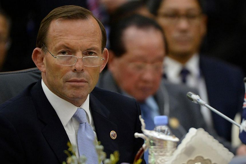 Australian Prime Minister Tony Abbott attends the 8th East Asia Summit, at the 23rd Summit of the Association of Southeast Asian Nations (Asean) in Bandar Seri Begawan on Oct 10, 2013. Mr Abbott on Thursday claimed his hardline policies to stop