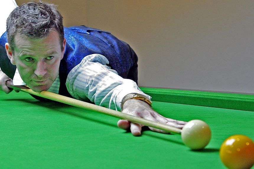Singapore's top billiards player Peter Gilchrist, an Asian champion and top world player, at the Cuesports centre. -- ST FILE PHOTO: ALBERT SIM