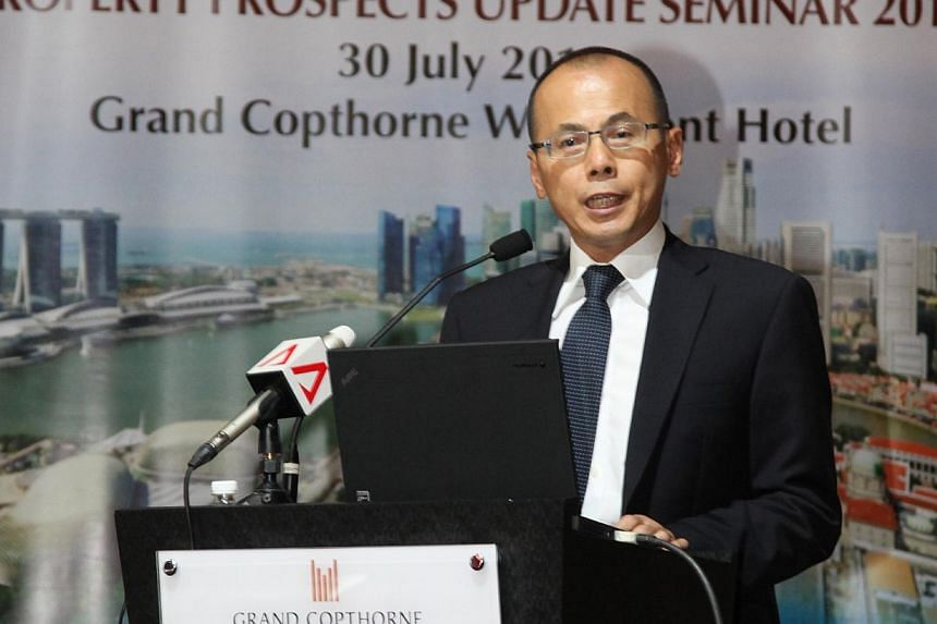 Mr Chia Boon Kuah, head of the Real Estate Developers' Association of Singapore (Redas). The head of the property developer's industry body has called on the Government to ensure the market remains healthy. -- FILE PHOTO: REDAS