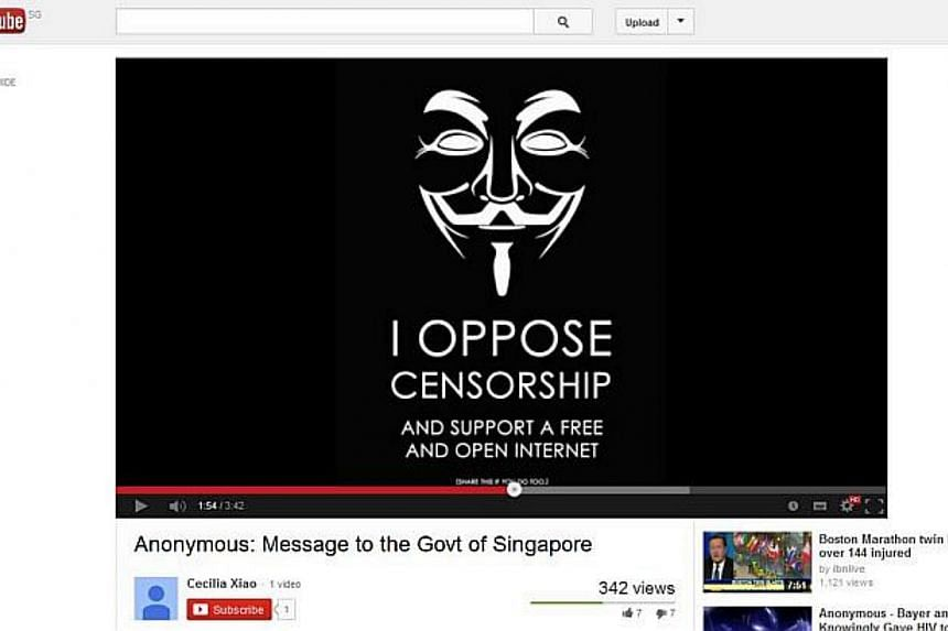 Government agencies have been put on alert after someone claiming to be part of the global hacker group Anonymous posted an online video threatening to hit out at the country's infrastructure.-- SCREENGRAB: YOUTUBE