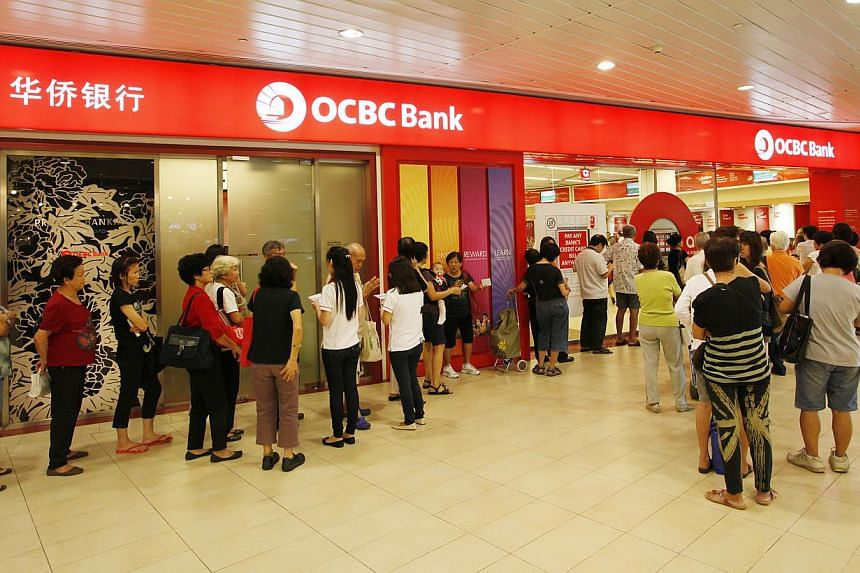 OCBC Bank turned in a net profit of $759 million in the third quarter compared to a year ago, it said on Friday. -- ST FILE PHOTO: DESMOND LUI