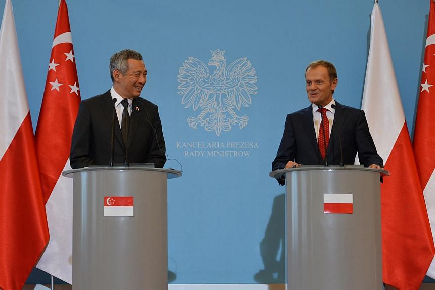 PM Lee Hsien Loong and Polish PM Donald Tusk at a press conference in the Chancellery of the Prime Minster in Warsaw, on Oct 31, 2013. Singapore is relevant in the world because it is successful, and it is important that it maintains that position, s