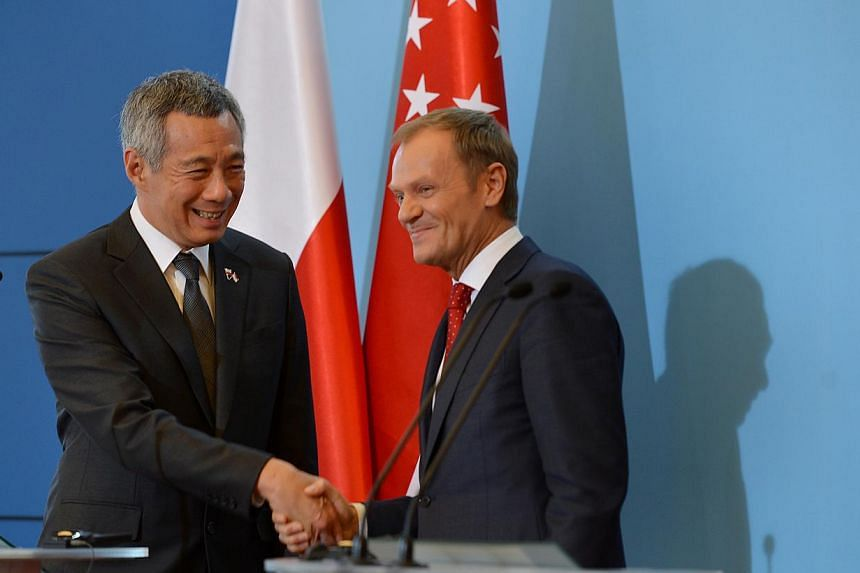 PM Lee Hsien Loong and Polish PM Donald Tusk at the press conference in the Chancellery of the Prime Minster in Warsaw, on Oct 31, 2013. Singapore is relevant in the world because it is successful, and it is important that it maintains that position,