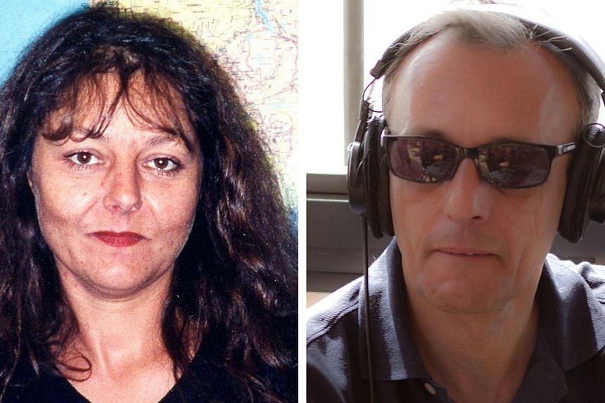 Radio France International (RFI) journalists Ghislaine Dupont (left) and Claude Verlon are pictured in this combination picture made of undated handout images released to Reuters on Nov 2, 2013. -- PHOTO: REUTERS