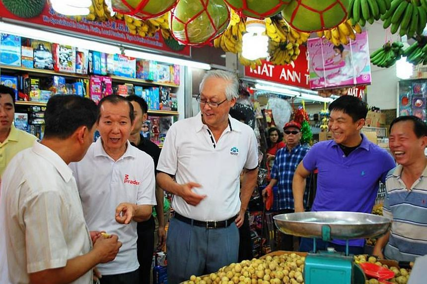 The Marine Parade Central market and food centre will be closed for a few weeks early next year for a redesign and overhaul of its drainage system, said Emeritus Senior Minister Goh Chok Tong. -- PHOTO: FROM MPARADER FACEBOOK