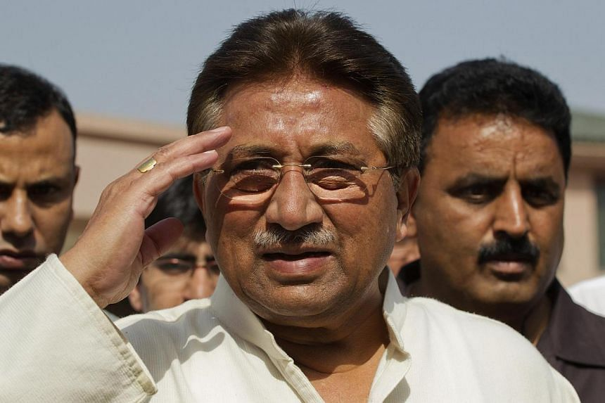 A Pakistan court on Monday, Nov 4, 2013, granted bail to former military ruler Pervez Musharraf (above) over a deadly raid on a radical mosque, bringing closer his possible release after more than six months of house arrest. -- FILE PHOTO: REUTERS