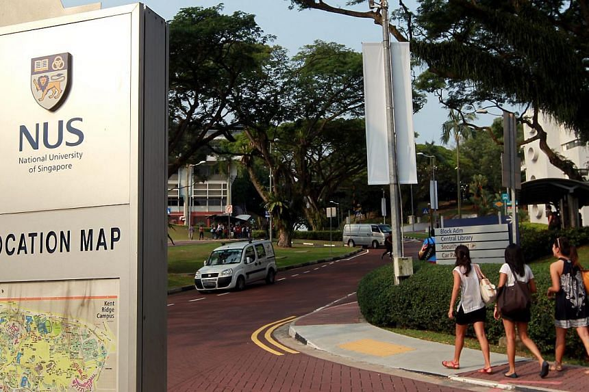 Generic picture of the National University of Singapore (NUS) campus. A 20-year-old student from NUS was hit by a public bus on campus and may lose three of her toes. -- ST FILE PHOTO: SEAH KWANG PENG
