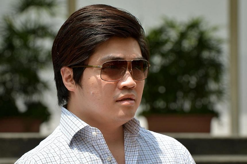 The defence for alleged match-fixer Eric Ding Si Yang (above) on Tuesday, Nov 5, 2013, zeroed in on the circumstances surrounding a midnight phone call received by the Lebanese officials. -- ST PHOTO:KUA CHEE SIONG
