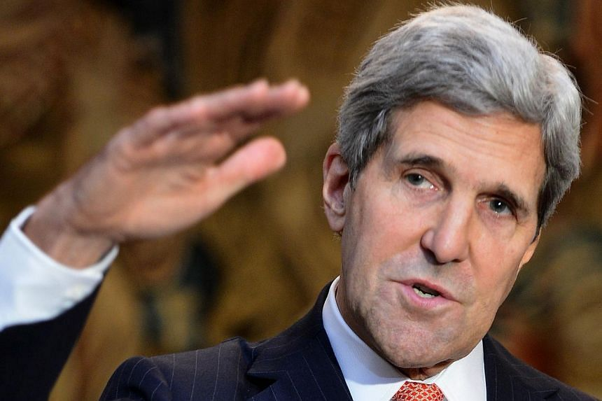 United States Secretary of State John Kerry (above) on Tuesday, Nov 5, 2013, urged European leaders not to allow a row over revelations about US spying to disrupt talks with the European Union to create the world's largest free trade zone. -- PHOTO: