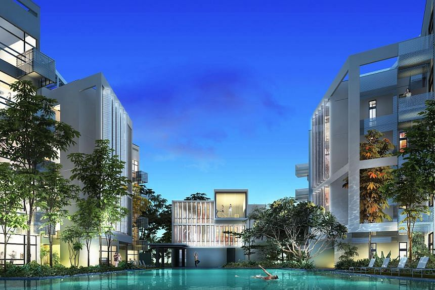 An artist's impression of Bliss@Kovan, a 140-unit freehold condominium near Kovan MRT station. Construction group BBR Holdings (S) has more than tripled its third quarter net profit to $8.4 million from $2.4 million previously. -- FILE PHOTO:&nb