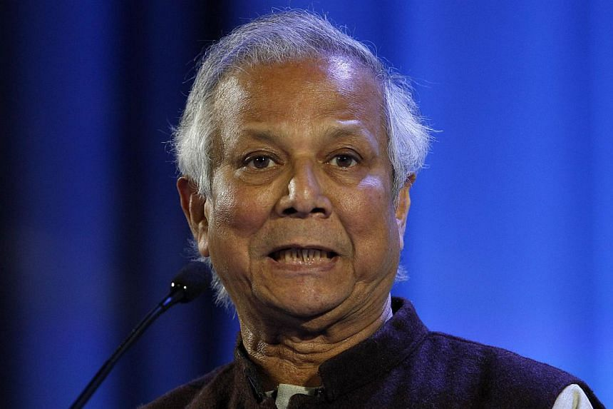 Nobel laureate Muhammad Yunus (above) on Wednesday, Nov 6, 2013, blasted the Bangladesh government after it passed a law that he said would pave the way for the ultimate destruction of Grameen Bank, the pioneering microlender he founded. -- FILE PHOT