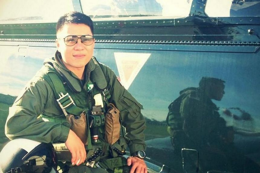 RSAF Lieutenant (LTA) Lu Zhen Yang Ephraim, 31, was undergoing a routine training flight when it crash landed on the runway at the Naval Air Station in Pensacola, Florida. -- PHOTO: LTA EPHRAIM LU'S FACEBOOK PAGE