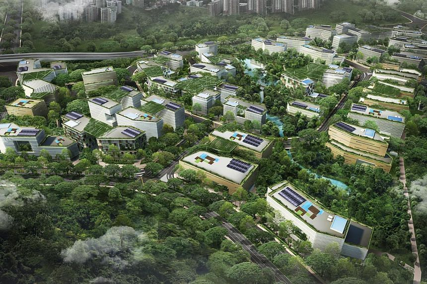 An artist's impression of an aerial view of CleanTech Park, Singapore's first eco-business park.A $30 million fund has been set up to attract more medical and clean technology start-ups, announced Spring Singapore on Thursday, Nov 7, 2013. --