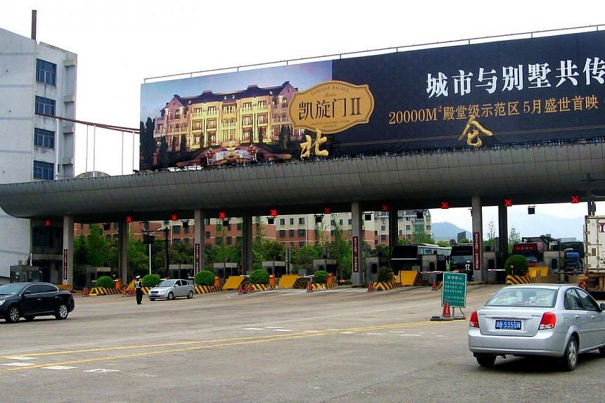 Ningbo Beilun Port Expressway in Zhejiang province.China toll road operator China Merchants Holdings (Pacific) has booked a 46 per cent rise in third quarter net profit to HK$145.8 million (S$23.4 million). -- FILE PHOTO:FINANCIAL PR PTE