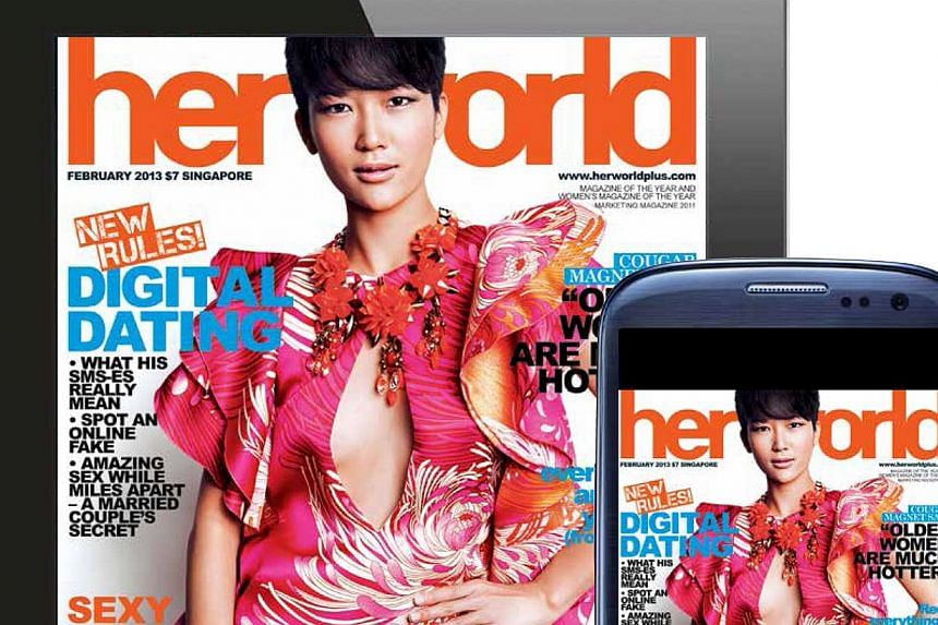 Three publications by SPH Magazines - Her World, Cleo, and The Singapore Women's Weekly - were ranked the top three women's magazine of the year on Friday, Nov 8, 2013, in a survey conducted by trade magazine, Marketing. -- FILE PHOTO: HER WORL