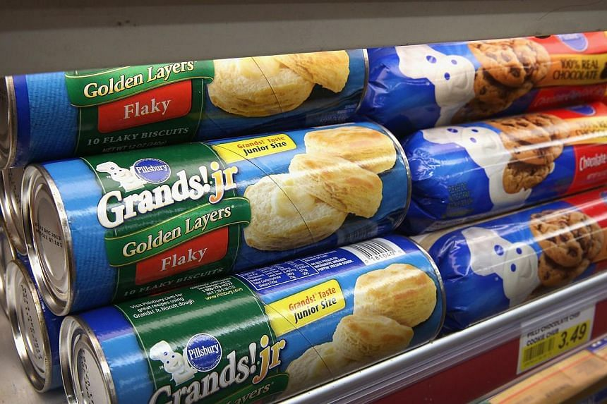 Pillsbury ready-to-bake items, which contain trans fat, are displayed at a grocery store in Chicago, Illinois, on Nov 7, 2013. On the same day, the United States Food and Drug Administration proposed a rule change that would eliminate trans fat from