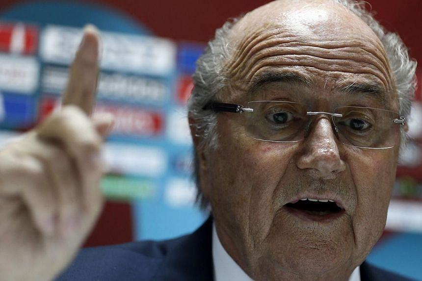Fifa president Sepp Blatter (above) ruled out a January World Cup in Qatar in 2022 and said yesterday that November / December was the only alternative to a summer tournament. -- PHOTO: AFP