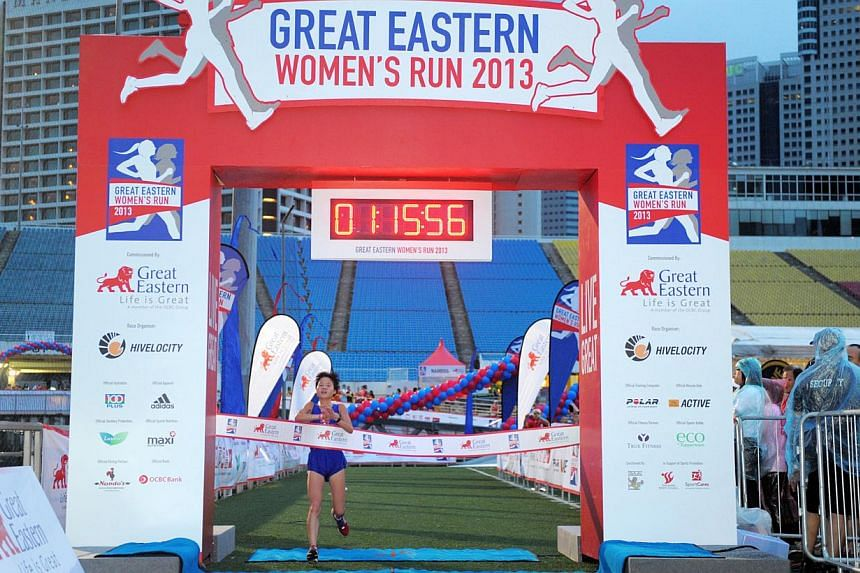 Kim Hye Gyong from North Korea came in first for the Elite Category. North Korea's Kim Hye Song and Kim Hye Gyong dominated Sunday morning's Great Eastern Women's Run as expected, with the 20-year-old twin sisters taking the top two spots in the half