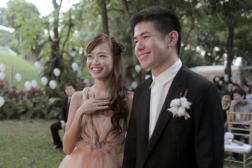 Ms Karen Wai and Mr Jean Paolo Ty. -- PHOTO: CAILI GOH