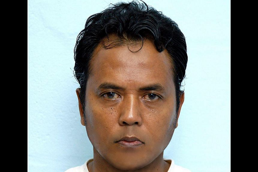 Masyhadi's father, former Jemaah Islamiah leader Mas Selamat Kastari, remains in detention in Singapore under the Internal Security Act. -- PHOTO: MINISTRY OF HOME AFFAIRS