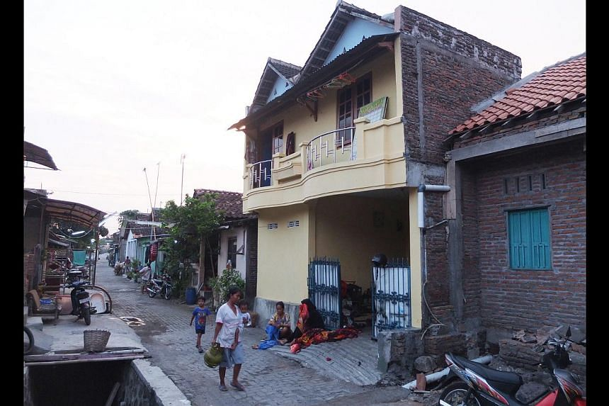 Masyhad and wife Choiriyah, lived in her parents' home (above) in Desa Semanggi, Solo, after getting married. -- ST PHOTOS: WAHYUDI SOERIAATMADJA