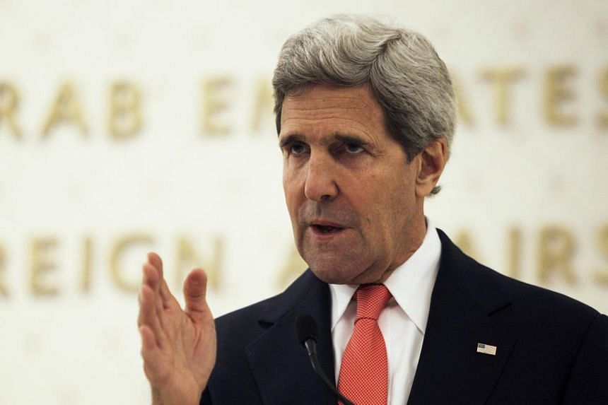 US Secretary of State John Kerry (above) on Monday, Nov 11, 2013, defended moves to strike a nuclear deal with Iran, saying it would protect Israel and America's Gulf allies, while stressing Teheran had balked. -- PHOTO: AP