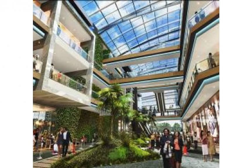 Integrated retail and office development Westgate will house Singapore's largest outdoor playground in a mall when it opens at Jurong East around Christmas this year. -- PHOTO: CAPITALAND