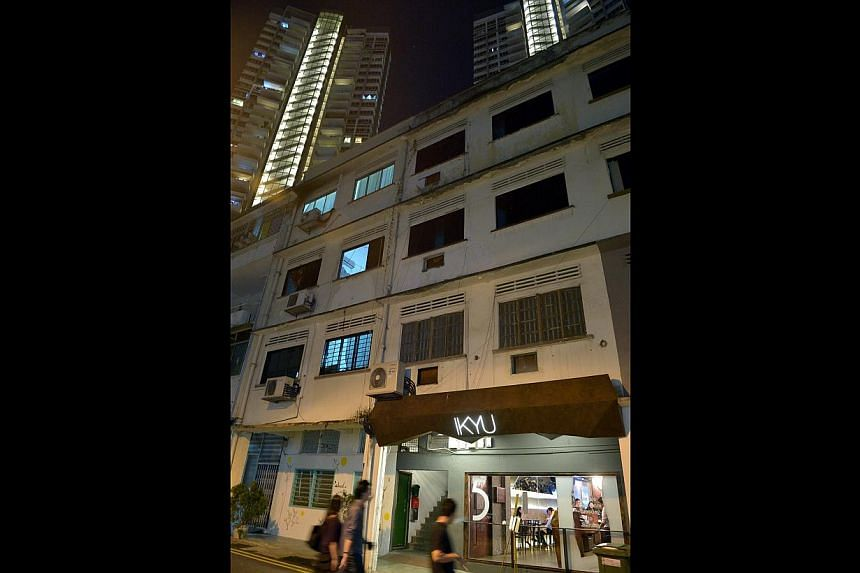 Mr Khoo Chee Wee (above), 40, a co-owner of Dough and Grains, which is among those whose requests to turn their shop premises into eateries were rejected. Residents said changes in Tiong Bahru estate (below) have come too fast, leaving them with fewe