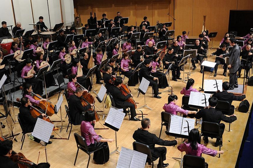 The arts, including the Singapore Chinese Orchestra, is the latest sector to be hit by the tightening of regulations for hiring foreigners. -- PHOTO: SINGAPORE CHINESE ORCHESTRA