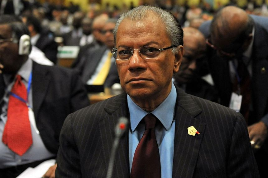 In this photograph taken on January 30, 2011, Mauritius Prime Minister Navin Chandra Ramgoolam attends the opening ceremony of the 16th Ordinary Summit of the African Union (AU) in Addis Ababa. The Prime Minister of Mauritius announced on November 12