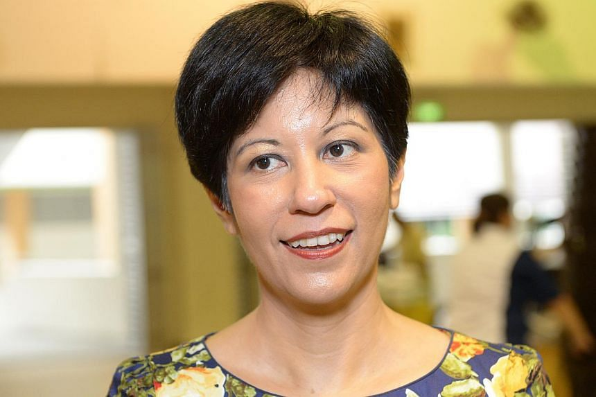 Senior Minister of State for Law and Education Indranee Rajah (above) has criticised the Workers' Party (WP) for not taking a clear position on the hijab issue. -- ST FILE PHOTO:DESMOND WEE