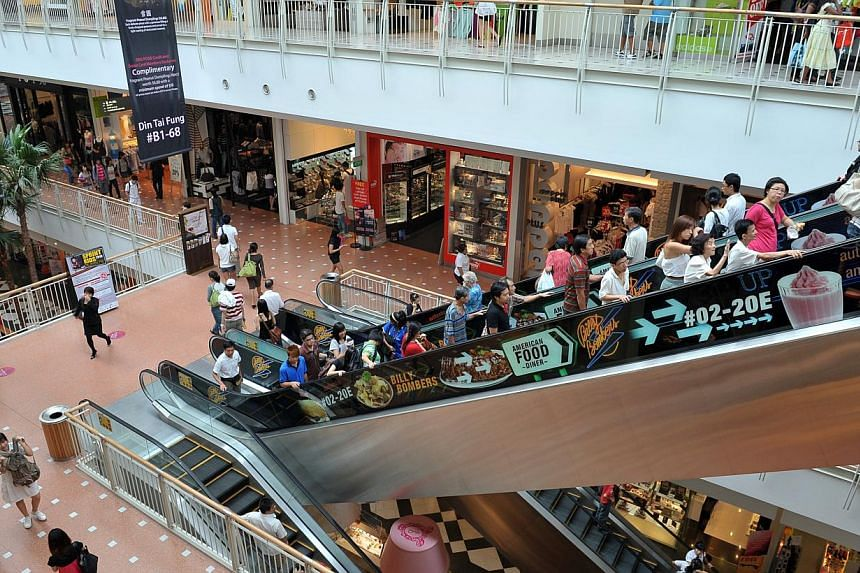 To stay ahead of competition, Jurong Point Shopping Centre on Wednesday, Nov 13, 2013, announced new initiatives to refresh parts of the mall and beef up customer service. -- ST FILE PHOTO:ALPHONSUS CHERN