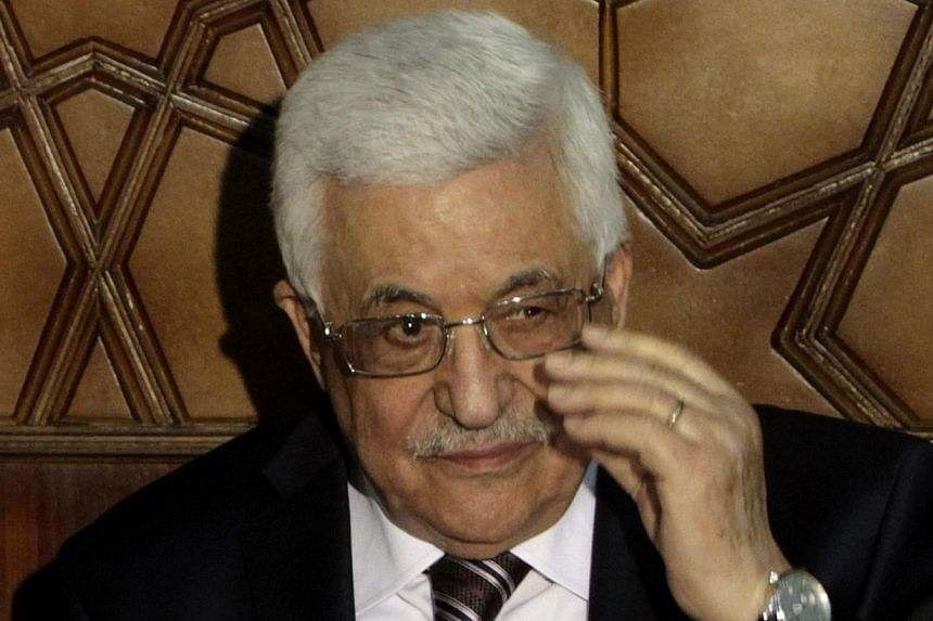 Palestinian President Mahmoud Abbas (above) said on Wednesday, Nov 13, 2013, that his peace negotiators had resigned over the lack of progress in United States-brokered statehood talks clouded by Israeli settlement building. -- PHOTO: REUTERS