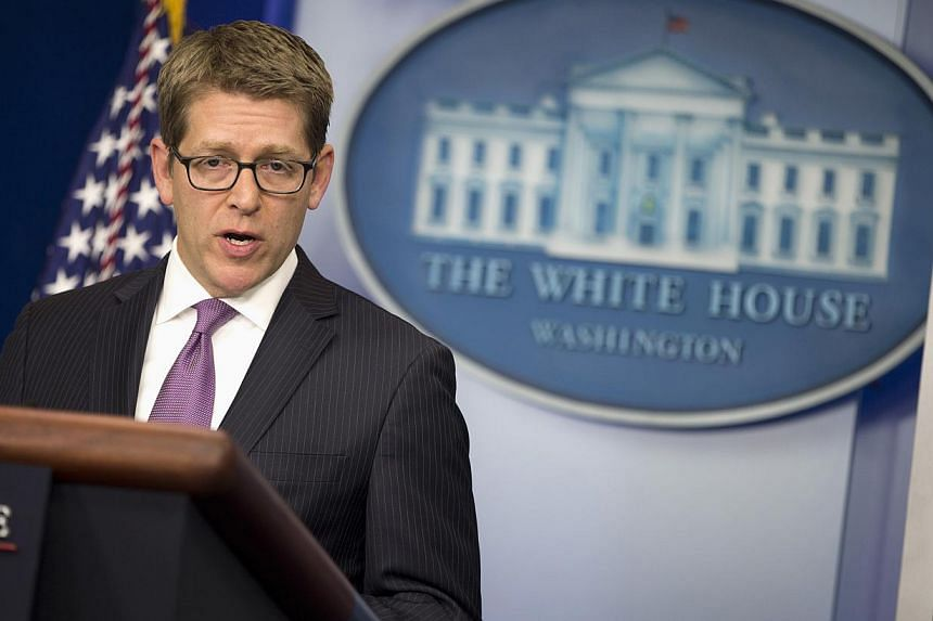 White House press secretary Jay Carney answers a question during the daily press briefing at the White House in Washington, on Nov 12, 2013.The White House warned United States lawmakers on Tuesday that tightening sanctions on Iran could box Am
