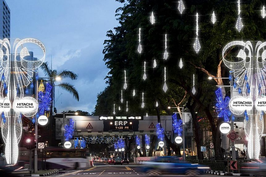 An artist's impression of the Christmas light-up along Orchard Road, which will run from Nov 23, 2013 to Jan 5, 2014. -- PHOTO: ORCHARD ROAD BUSINESS ASSOCIATION