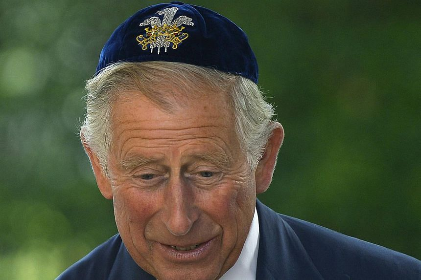 Prince Charles attends the installation of Ephraim Mirvis as chief rabbi, at St John's Wood Synagogue in London, Sept 1, 2013. Prince Charles is readying the paperwork to claim his pension when he turns 65 on Thursday, Nov 14, 2013, but he still hasn