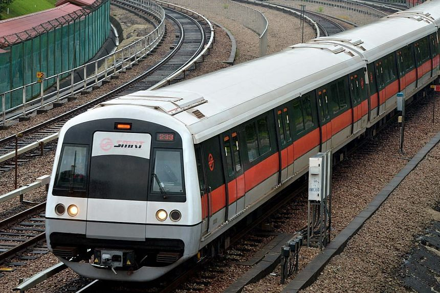 Rail operator SMRT Corp has acquired a fleet of special track vehicles to accelerate its sleeper replacement programme. -- ST FILE PHOTO: KUA CHEE SIONG