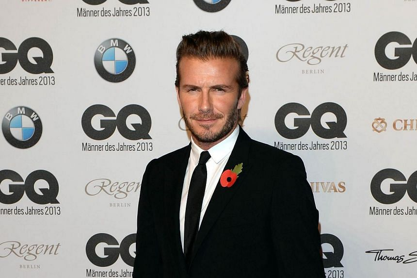 David Beckham arrives for the award presentation of GQ Maenner des Jahres 2012 - Men of the year 2012 in the Komische Oper in Berlin, Germany, on Nov 7, 2013. Beckham toured potential stadium sites in Miami on Wednesday, signaling he is forging