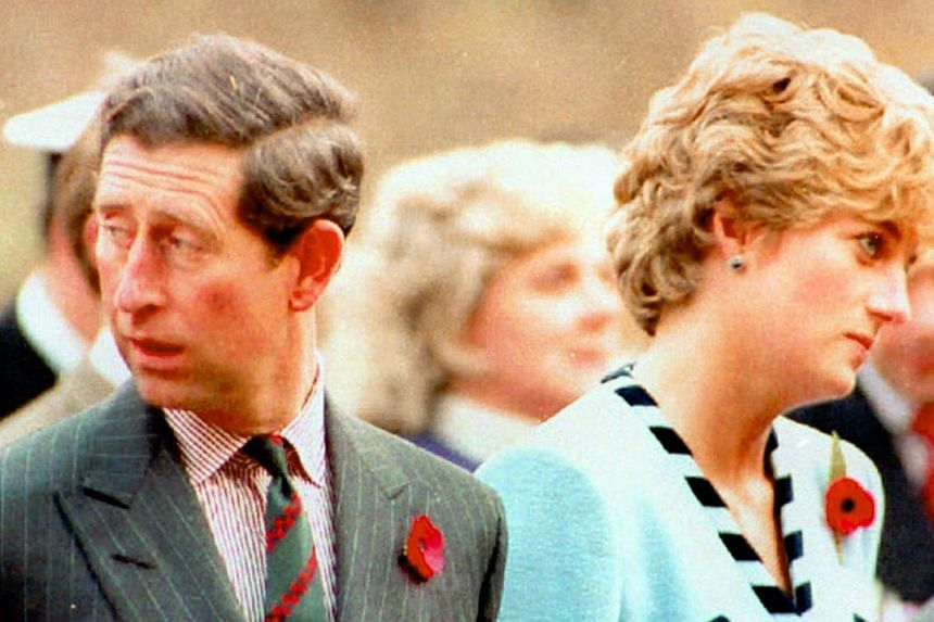 Prince Charles and Princess Diana, look their separate ways, during a memorial service on their tour of South Korea on Dec 20, 1992. Prince Charles is readying the paperwork to claim his pension when he turns 65 on Thursday, Nov 14, 2013, but he stil