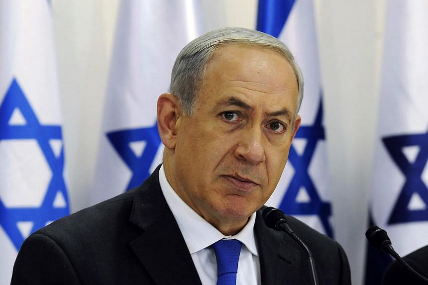 Israel's Prime Minister Benjamin Netanyahu heads a special cabinet meeting marking 40 years since the death of David Ben-Gurion, Israel's first prime minister, in Sde Boker in southern Israel November 10, 2013.Mr Netanyahu said he was unimpresse