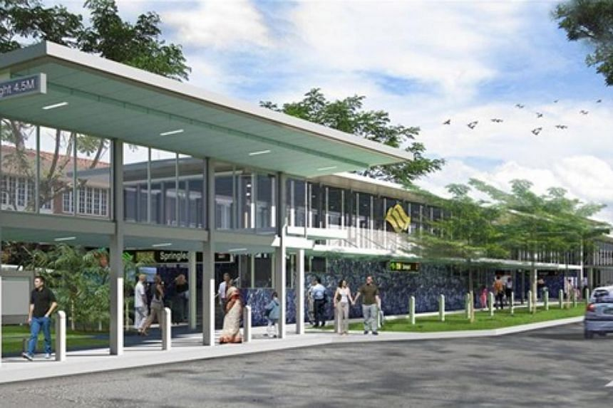 An artist's impression of the entrance of the new Springleaf Station.-- PHOTO: LAND TRANSPORT AUTHORITY