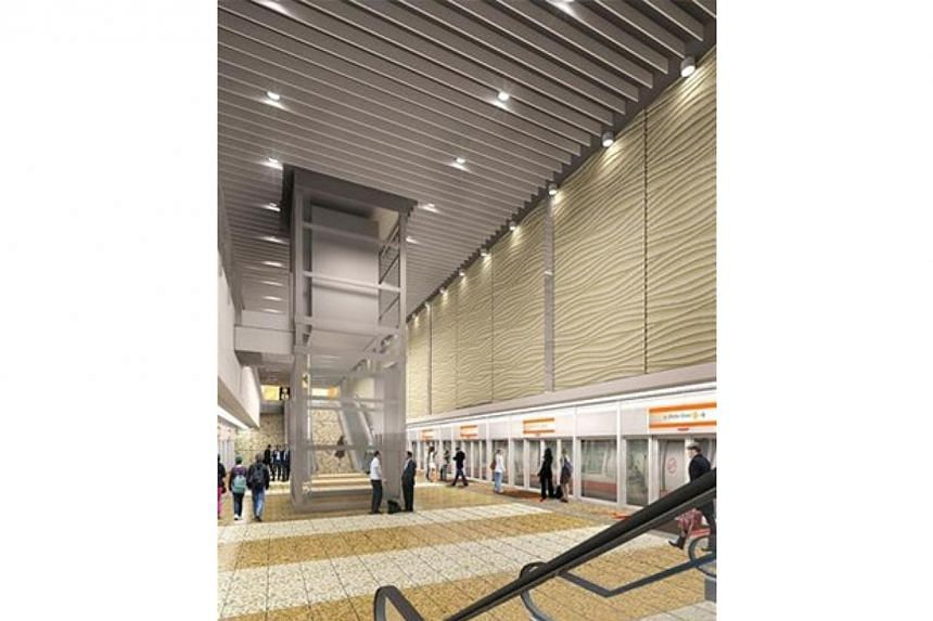 An artist's impression of the interior of the new Upper Thomson Station. --PHOTO: LAND TRANSPORT AUTHORITY