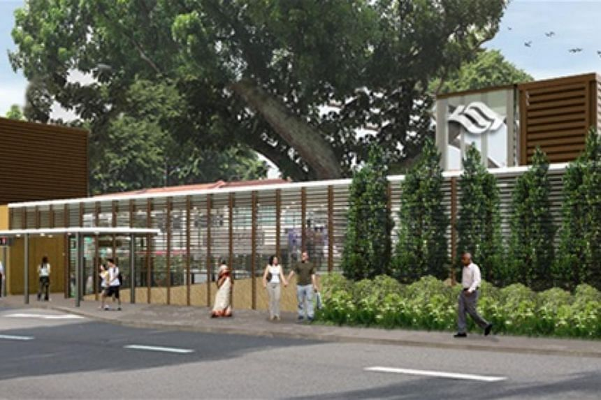 An artist's impression of the entrance of the new Upper Thomson Station.--PHOTO: LAND TRANSPORT AUTHORITY