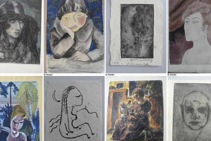 """A combination of handout photos of a selection of artworks published on German government website """"Lost Art"""" website (www.lostart.de), Nov 12, 2013.Cornelius Gurlitt, an elderly German recluse who hid hundreds of paintings believed looted by th"""