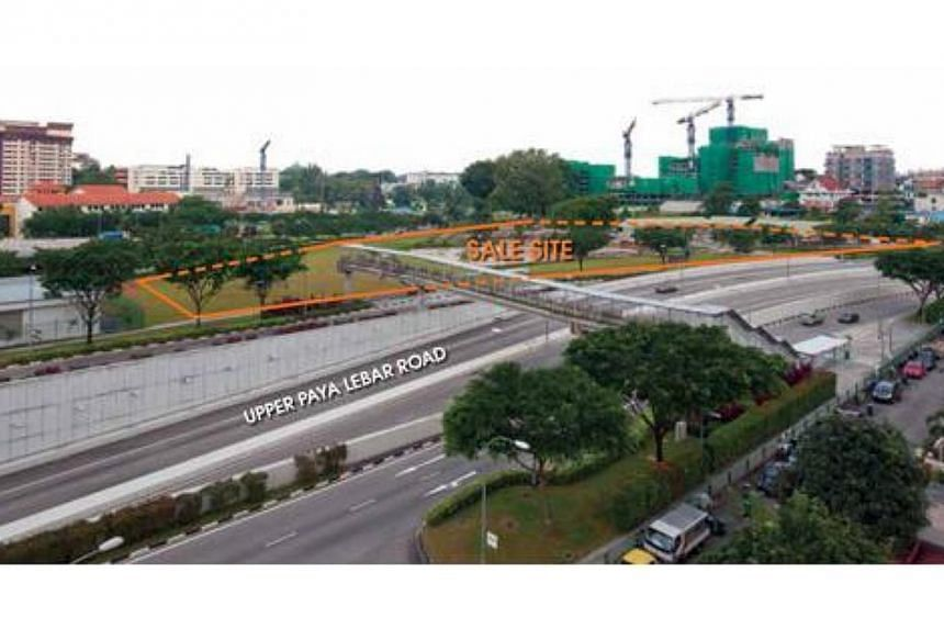 A view of the sale site at Upper Paya Lebar Road, one of the four residential sites put up for sale this month. -- PHOTO: SCREENGRAB FROM HDB.GOV.SG