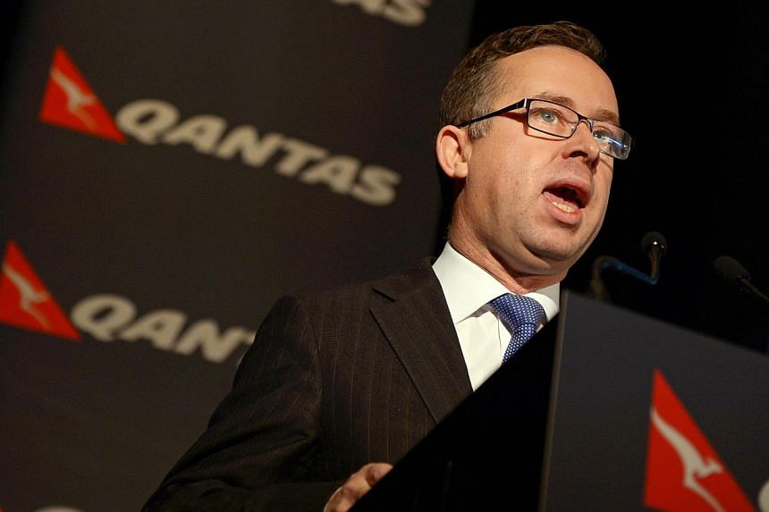"""Qantas chief executive Alan Joyce has demanded the government halt what he described as a """"virtual takeover"""" of Virgin Australia by foreign airlines, saying they were working to destabilise the national carrier. -- FILE PHOTO: AFP"""