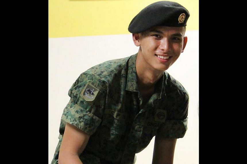 Mr Spencer Tan (above) had plans to study engineering after completing NS. His father, who also died, is believed to have dashed back into the burning house (below).