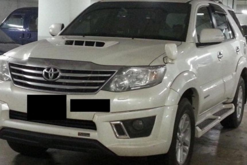 The vehicle seized in the operation, on Tuesday, 19 Nov, 2013. -- PHOTO: SINGAPORE POLICE FORCE