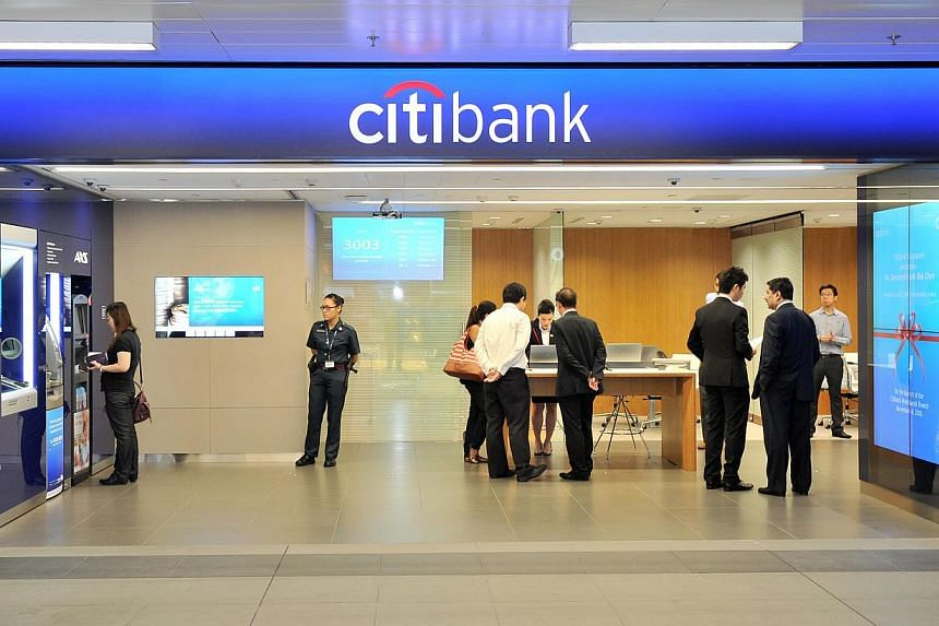 Citibank is trying out a new way of doing business with its retail customers, by changing the layout and service style at its newest branch located at Woodlands MRT Station. -- PHOTO: CITIBANK SINGAPORE