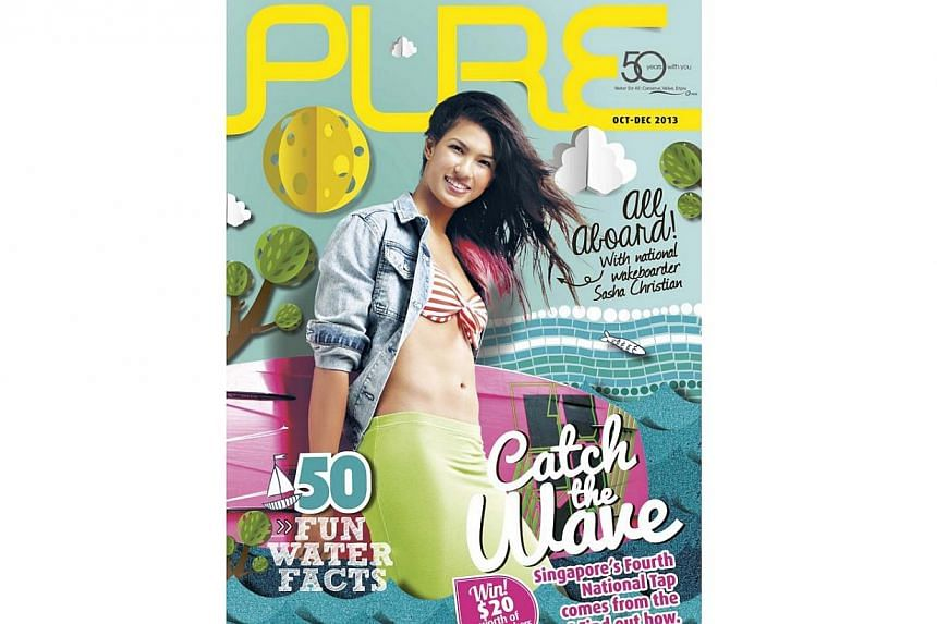 The Oct-Dec 2013 edition of Pure Magazine, a publication on water issues by national water agency PUB. The magazine is now available for free on mobile platforms. -- SCREENGRAB: PUB